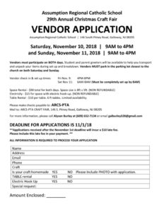 thumbnail of craft fair 2018 Vendor Application