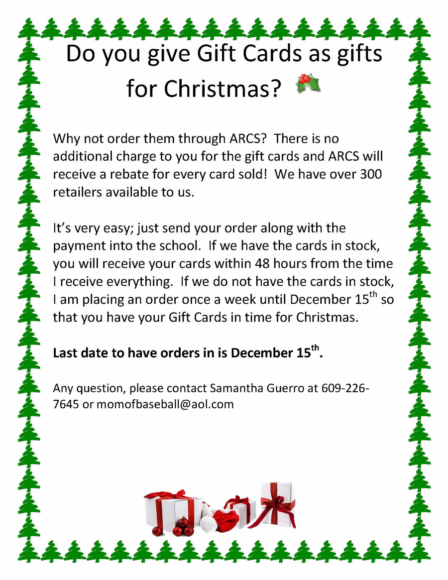 """Buy Scrip """"Gift Cards"""" for Christmas – Order by Dec 15 – Assumption ..."""