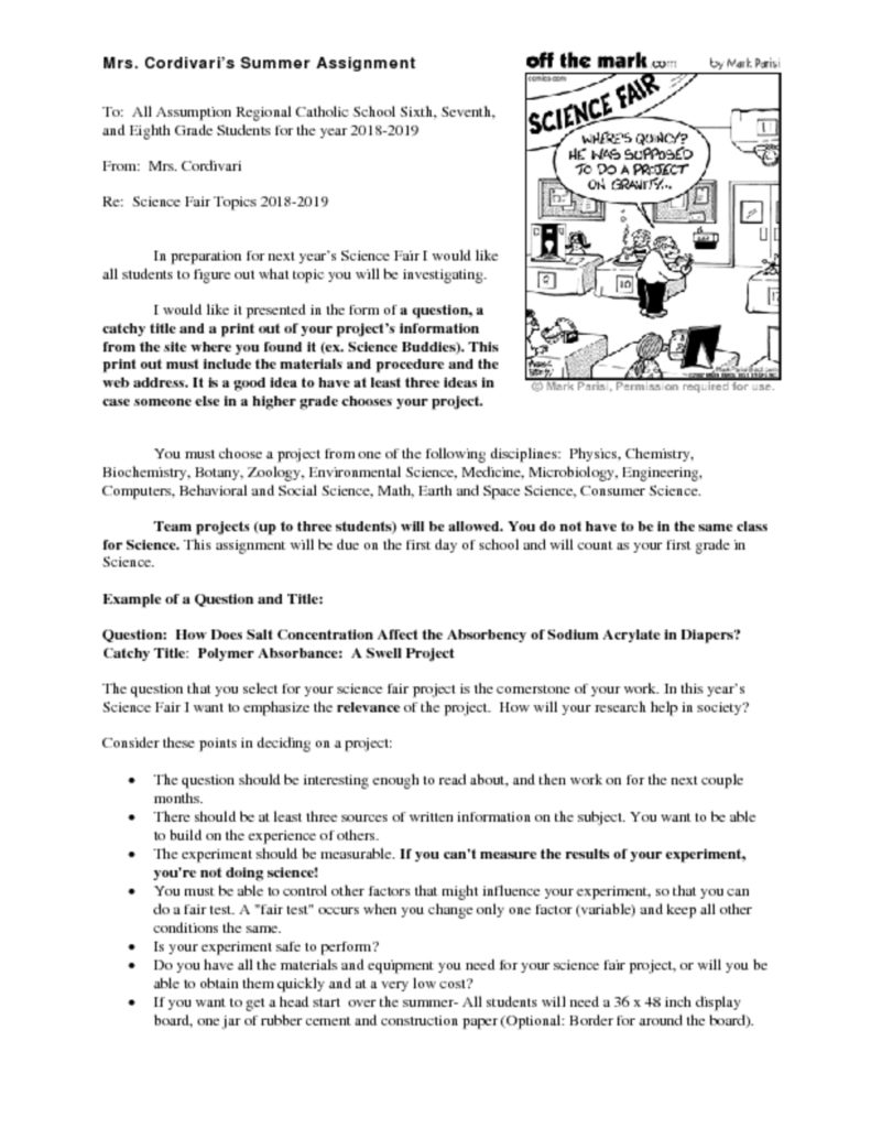 thumbnail of Junior High Science Summer Assignment-2