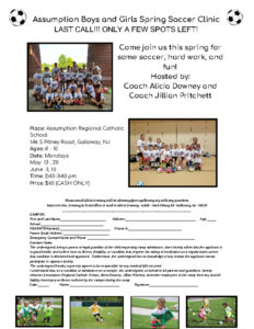 thumbnail of Assumption Boys and Girls SPRING Soccer Clinic